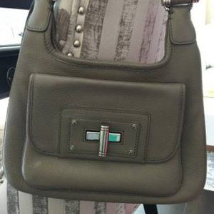 Banana Republic Taupe Pebbled Leather Bag